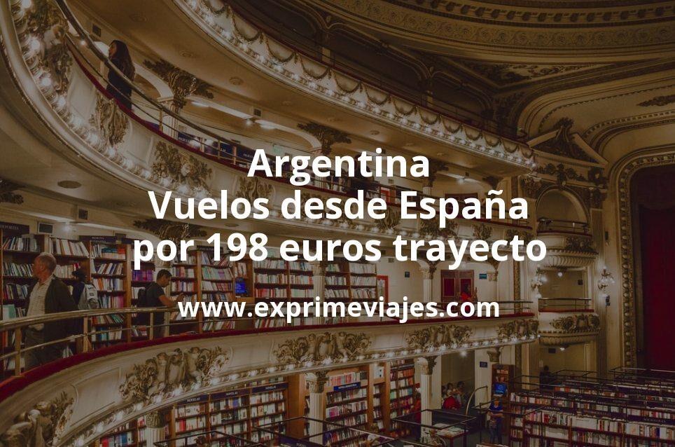 ¡Wow! Argentina: Vuelos desde España por 198euros trayecto