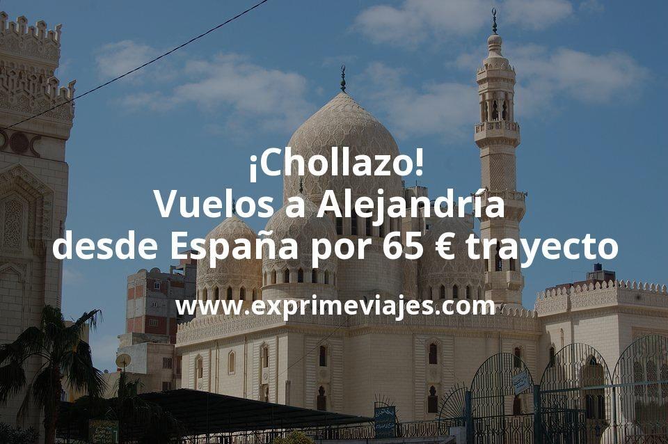 ¡Chollazo! Vuelos a Alejandría desde España por 65euros trayecto