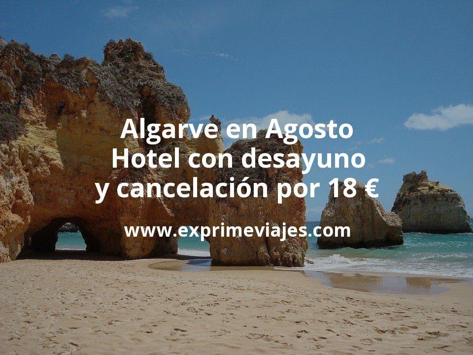 ¡Chollo! Algarve en Agosto: Hotel con desayuno y cancelación por 18€ p.p/noche
