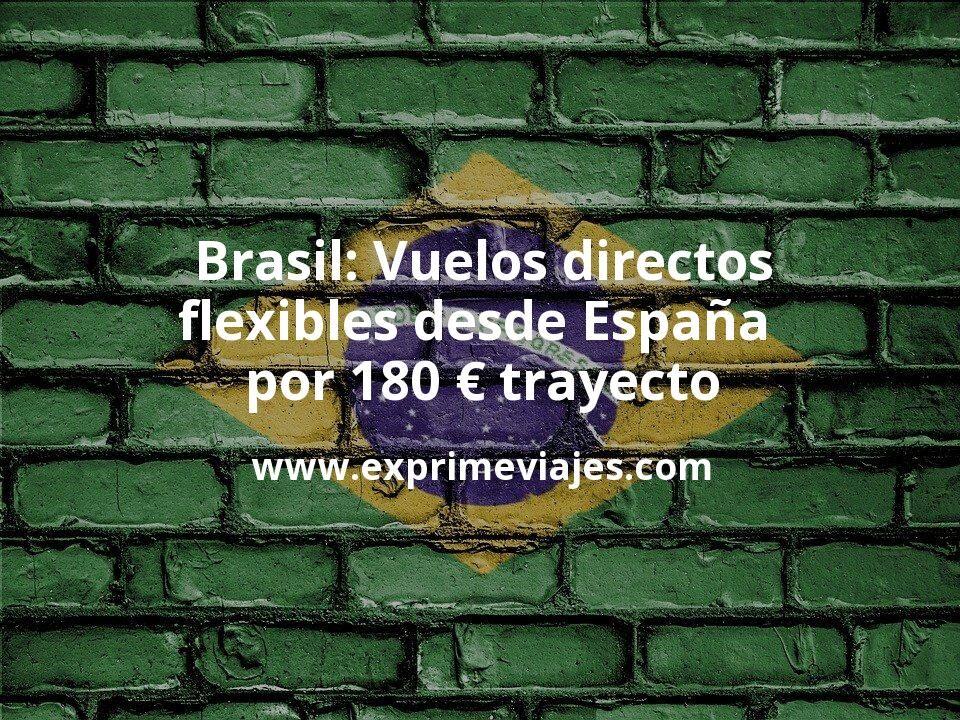 ¡Chollo! Brasil: Vuelos directos flexibles desde España por 180euros trayecto