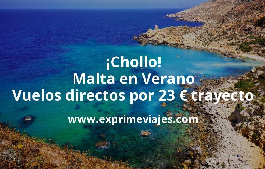 ¡Chollo! Malta en Verano: Vuelos directos por 23euros trayecto