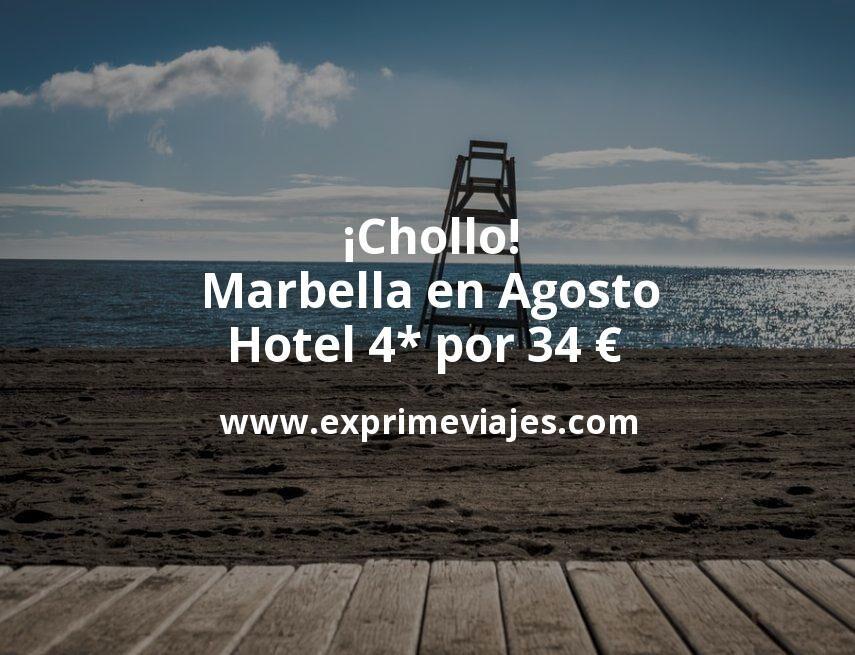 ¡Chollo! Marbella en Agosto: Hotel 4* por 34€ p.p/noche