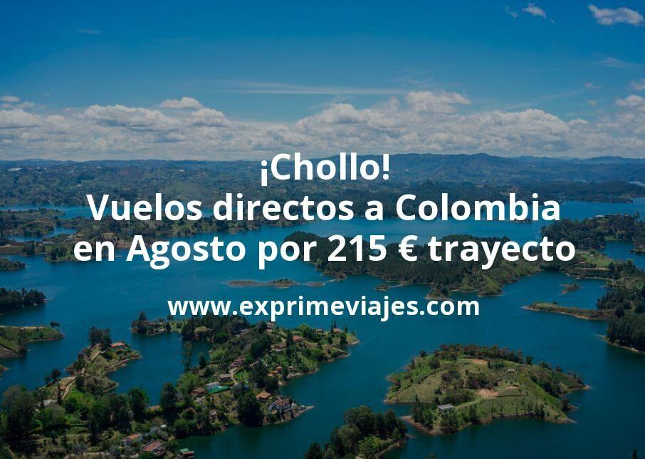 ¡Chollo! Vuelos directos a Colombia en Agosto por 215€ trayecto