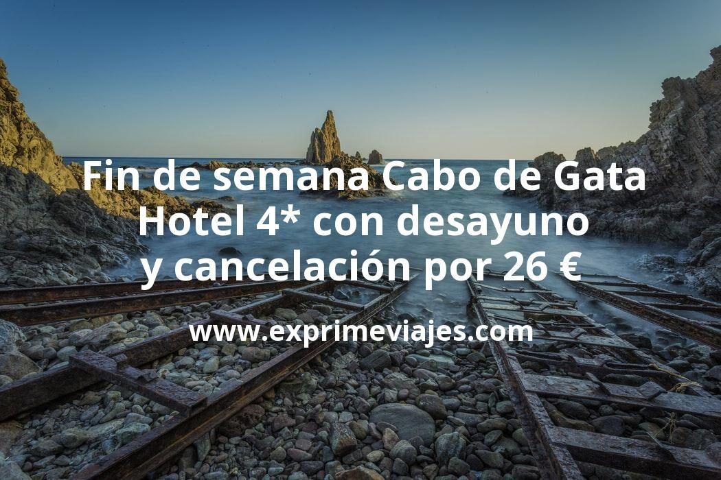 Fin de semana Cabo de Gata: Hotel 4* con desayuno y cancelación por 26€ p.p/noche