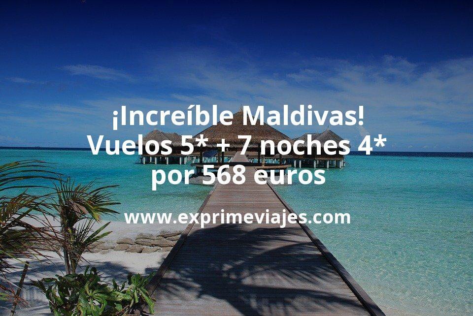 ¡Brutal! Maldivas en verano: vuelos flexibles 5* + 7 noches 4* por 568euros