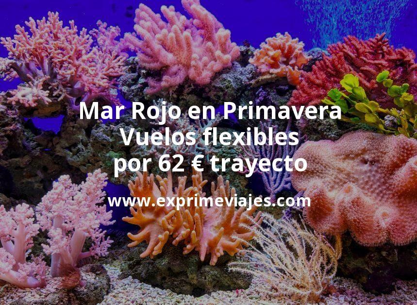 ¡Wow! Vuelos flexibles al Mar Rojo en Primavera por 62euros trayecto
