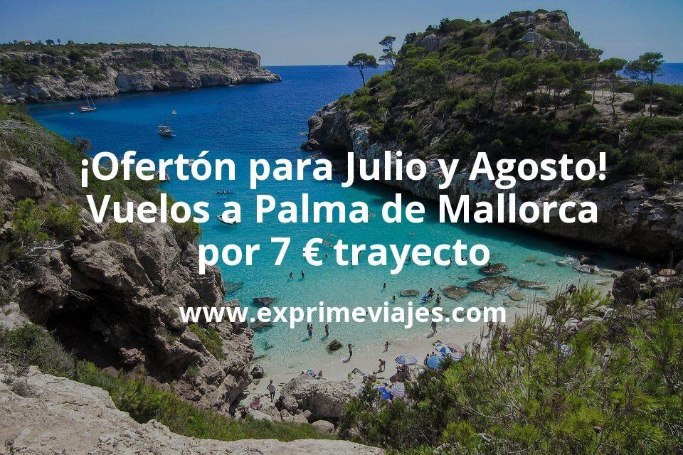 ¡Ofertón! Vuelos en julio y agosto a Palma de Mallorca por 7€ trayecto