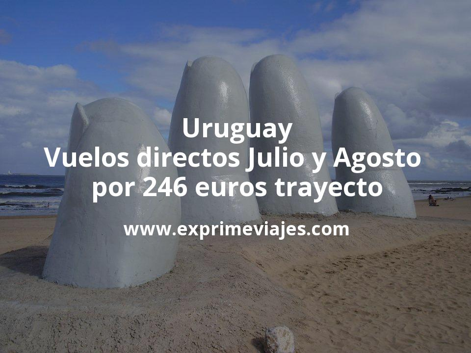 ¡Wow! Uruguay: Vuelos directos Julio y Agosto por 246euros trayecto