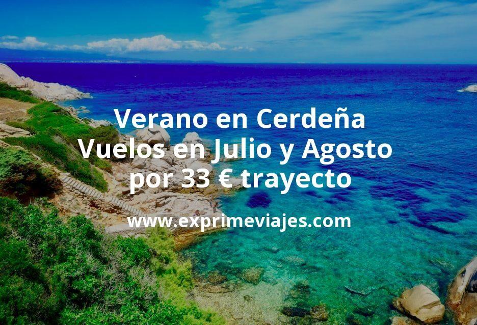 Verano en Cerdeña: Vuelos en Julio y Agosto por 33euros trayecto