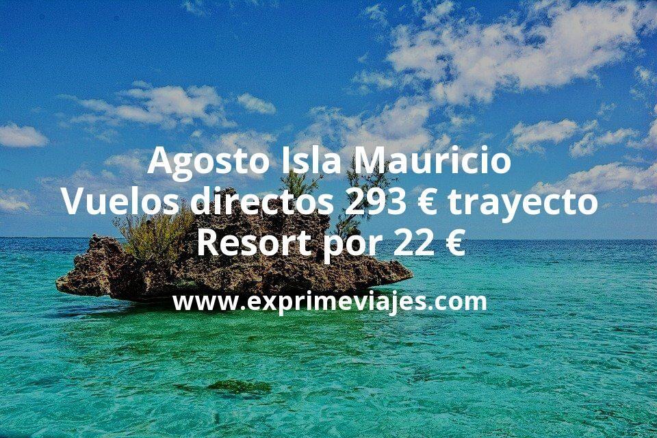 Agosto Isla Mauricio: Vuelos directos desde España por 293€ trayecto; Resort por 22€ p.p/noche