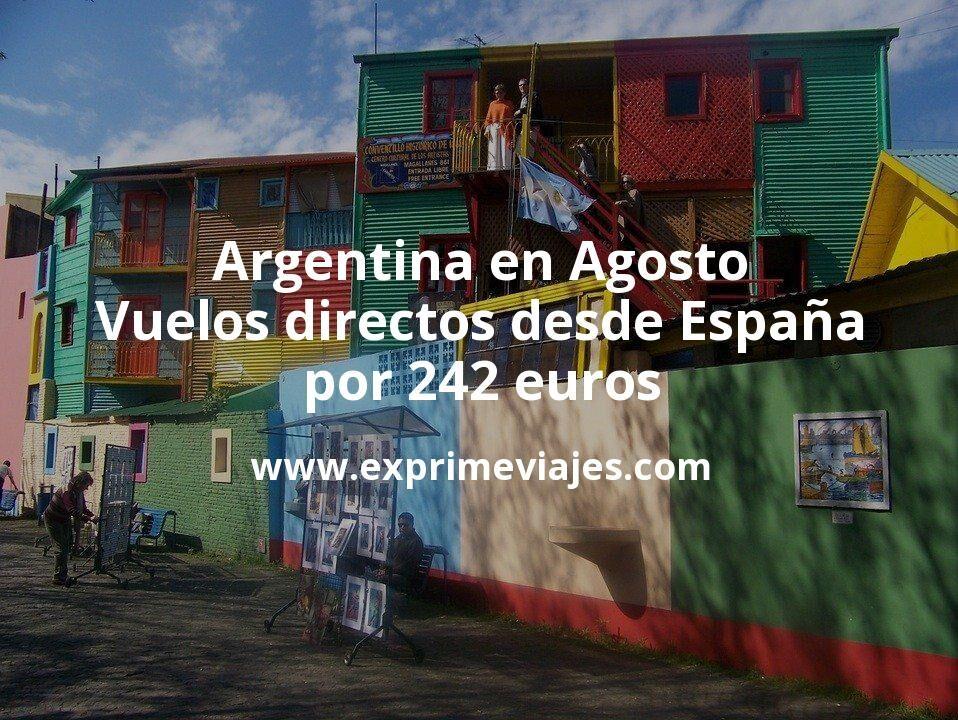 ¡Wow! Argentina en Agosto: Vuelos directos desde España por 242€ trayecto