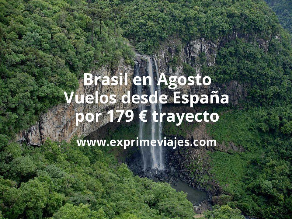 ¡Chollazo! Brasil en Agosto: Vuelos desde España por 179euros trayecto