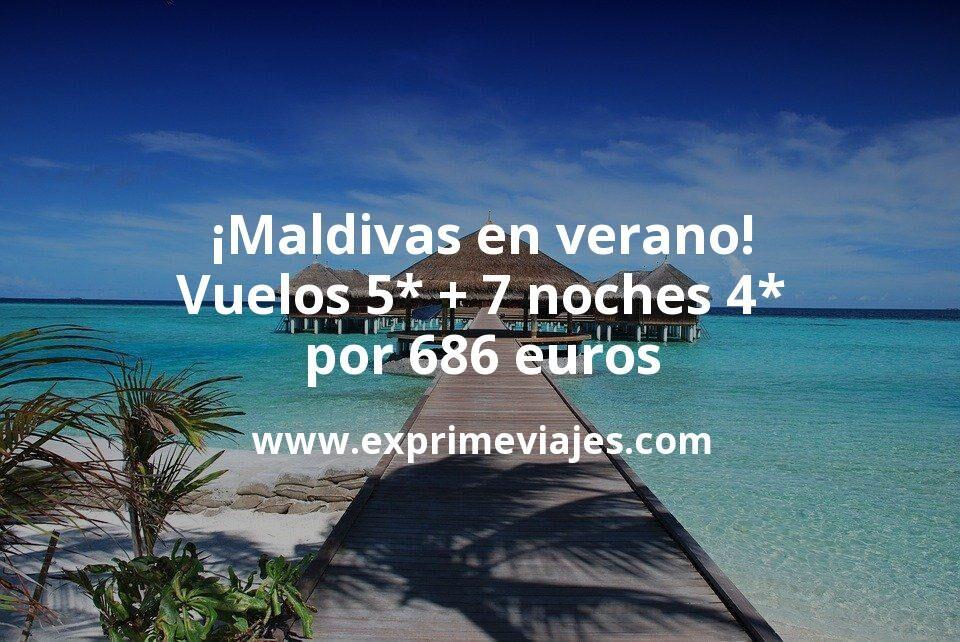 ¡Ofertón a Maldivas en verano! Vuelos 5* + 7 noches 4* por 686euros