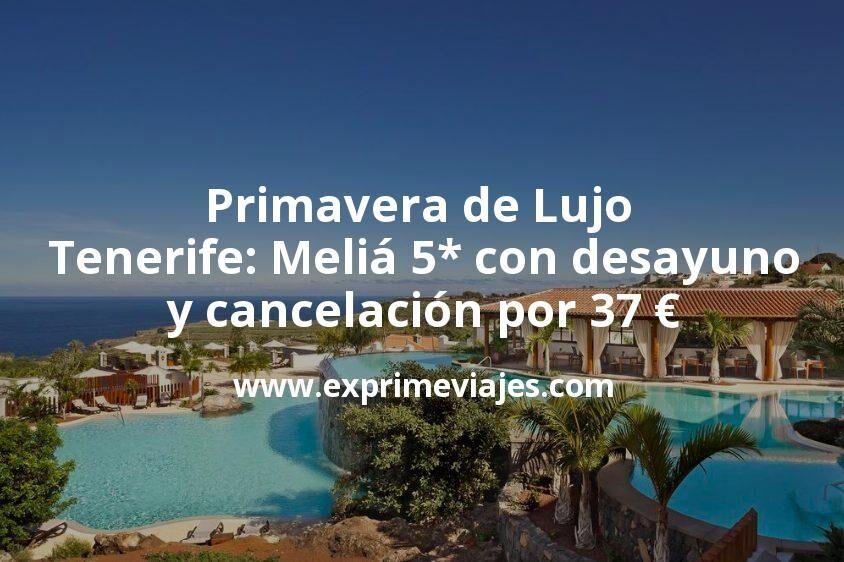 Primavera de Lujo en Tenerife: Meliá 5* con desayuno y cancelación por 37€ p.p/noche