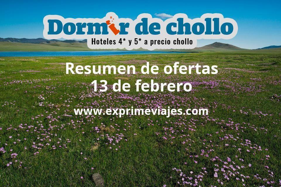 Resumen de ofertas de Dormir de Chollo – 13 de febrero