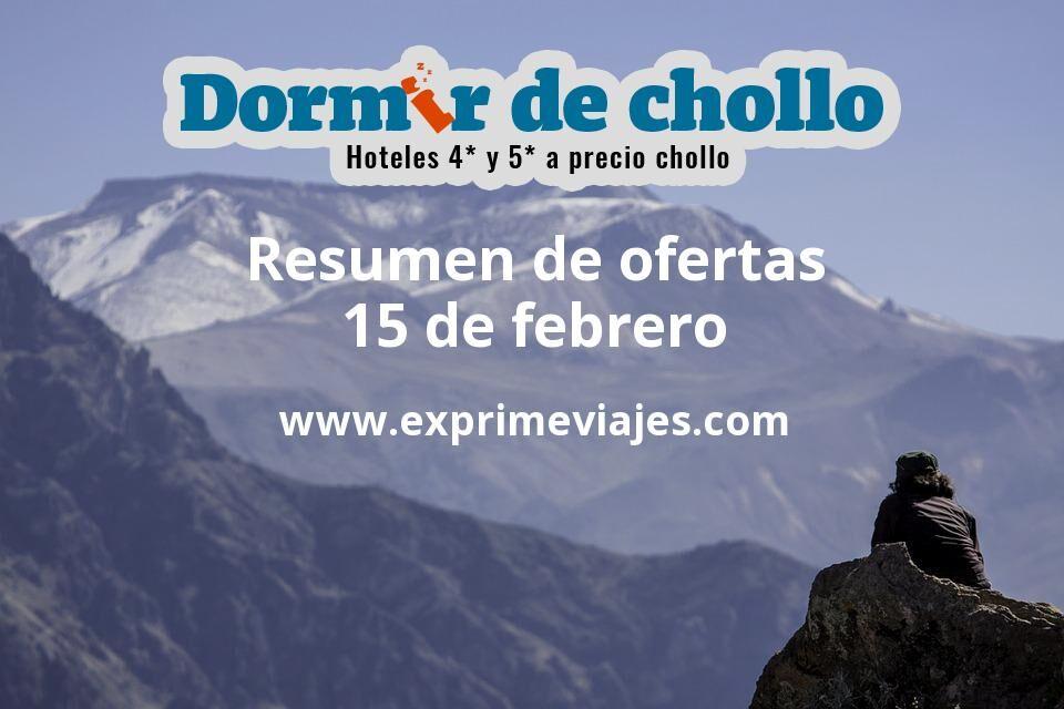 Resumen de ofertas de Dormir de Chollo – 15 de febrero