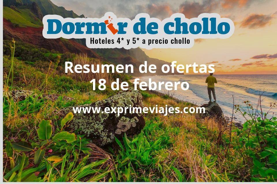 Resumen de ofertas de Dormir de Chollo – 18 de febrero