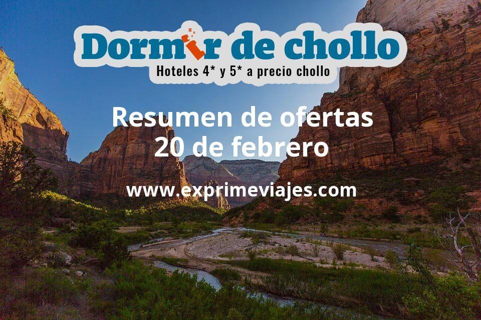 Resumen de ofertas de Dormir de Chollo – 20 de febrero