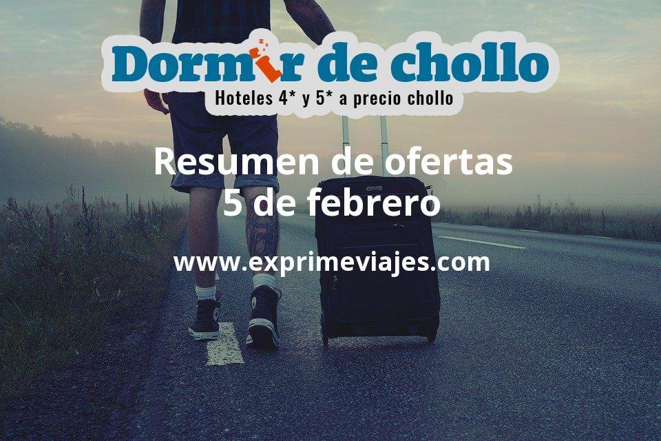 Resumen de ofertas de Dormir de Chollo – 5 de febrero