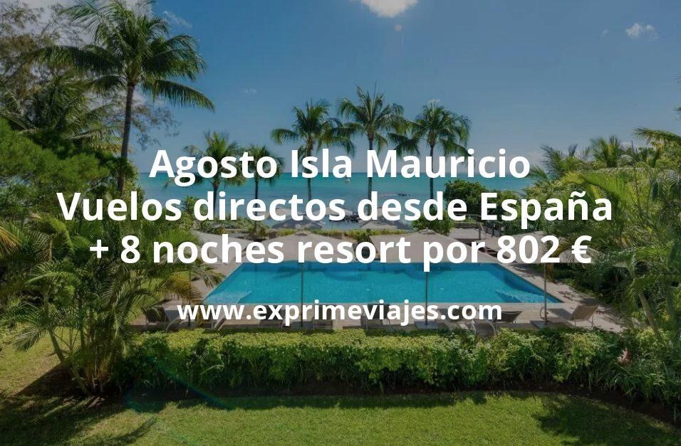 ¡Wow! Isla Mauricio en Agosto: Vuelos directos desde España + 8 noches resort por 802euros
