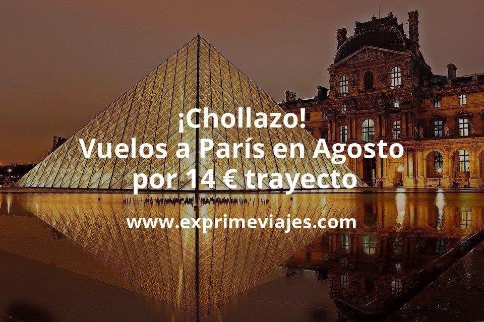 ¡Chollazo! Vuelos a París en Agosto por 14euros trayecto