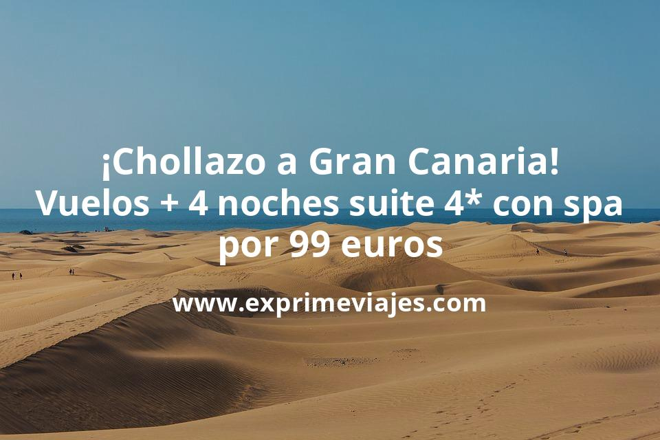 ¡Chollazo! Gran Canaria: vuelos + 4 noches Suite 4* con Spa por 99euros
