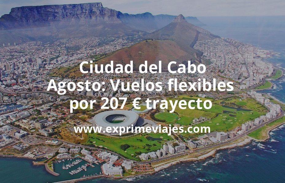¡Wow! Ciudad del Cabo en Agosto: Vuelos flexibles por 207euros trayecto