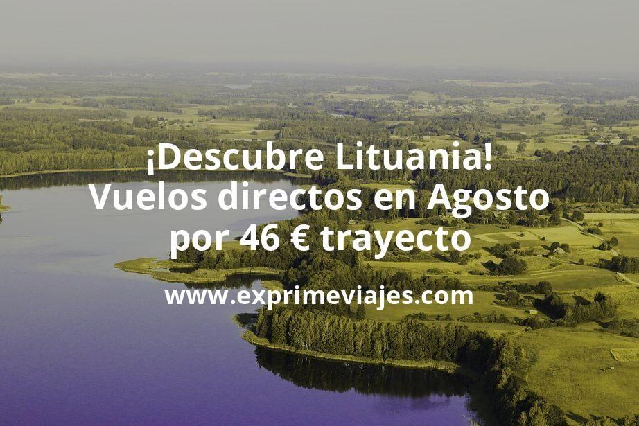 ¡Descubre Lituania! Vuelos directos en Agosto por 46euros trayecto