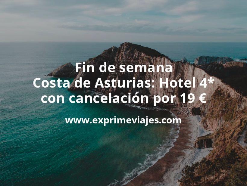 ¡Chollo! Fin de semana Costa Asturias: Hotel 4* con cancelación por 19€ p.p/noche
