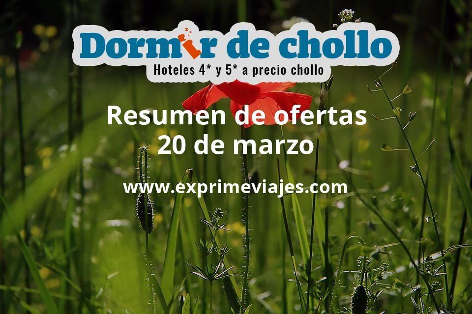 Resumen de ofertas de Dormir de Chollo – 20 de marzo