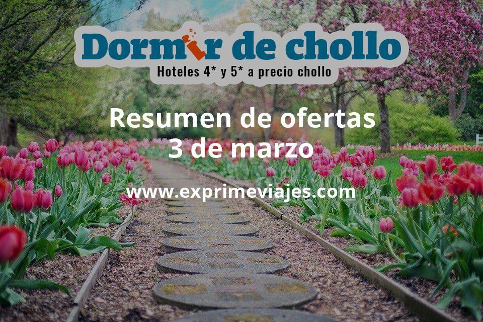 Resumen de ofertas de Dormir de Chollo – 3 de marzo