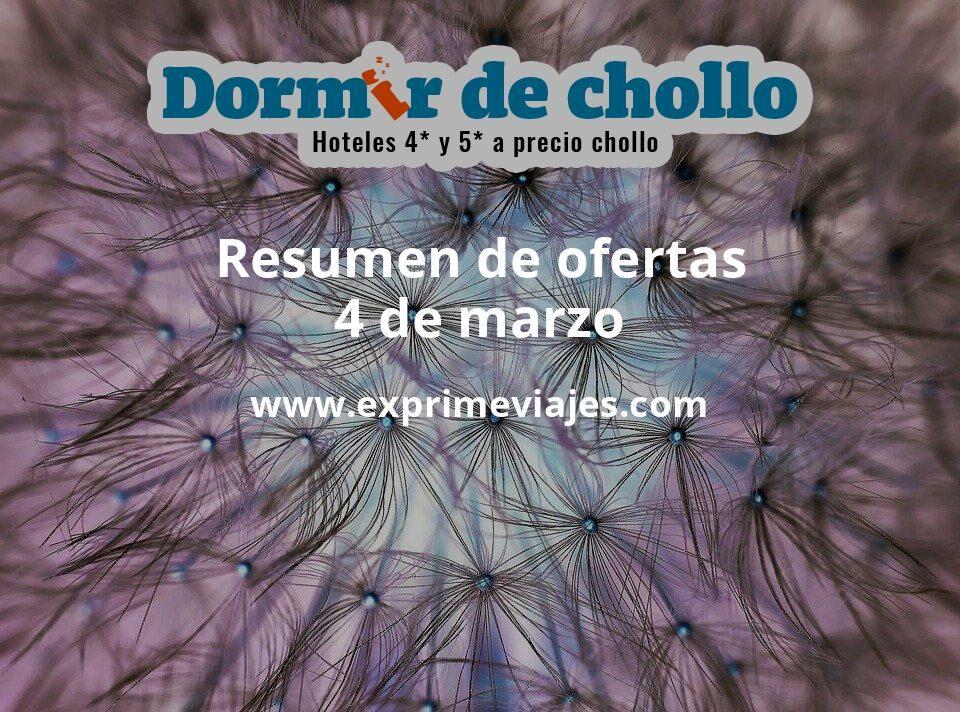 Resumen de ofertas de Dormir de Chollo – 4 de marzo