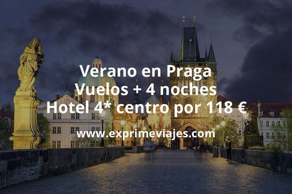 ¡Chollazo! Verano en Praga: Vuelos + 4 noches hotel 4* centro por 118euros