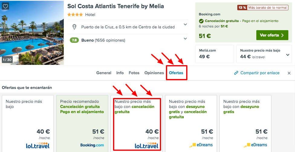 ¡Chollo! Canarias: Meliá 4* en Tenerife con cancelación por 20 € p.p/noche