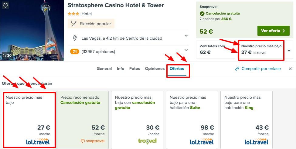 ¡Chollazo! Las Vegas: Vuelos desde España + 7 noches por 380 euros