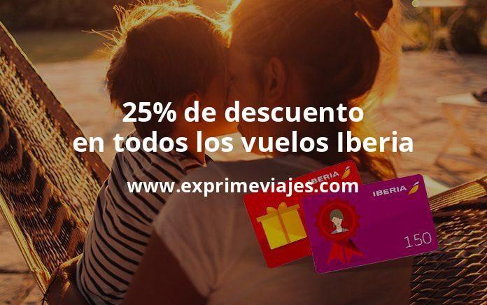 ¡Wow! 25% de descuento en Iberia con la tarjeta regalo