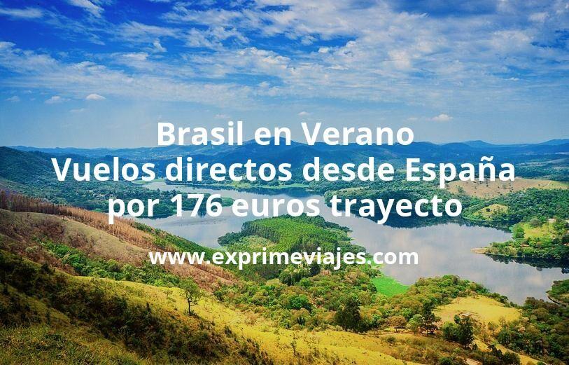 ¡Chollazo! Brasil en Verano: Vuelos directos desde España por 176euros trayecto