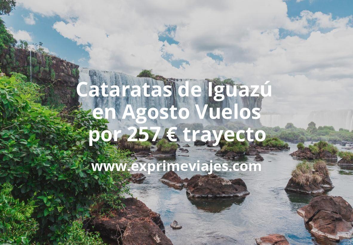 ¡Wow! Cataratas de Iguazú en Agosto: Vuelos por 257euros trayecto