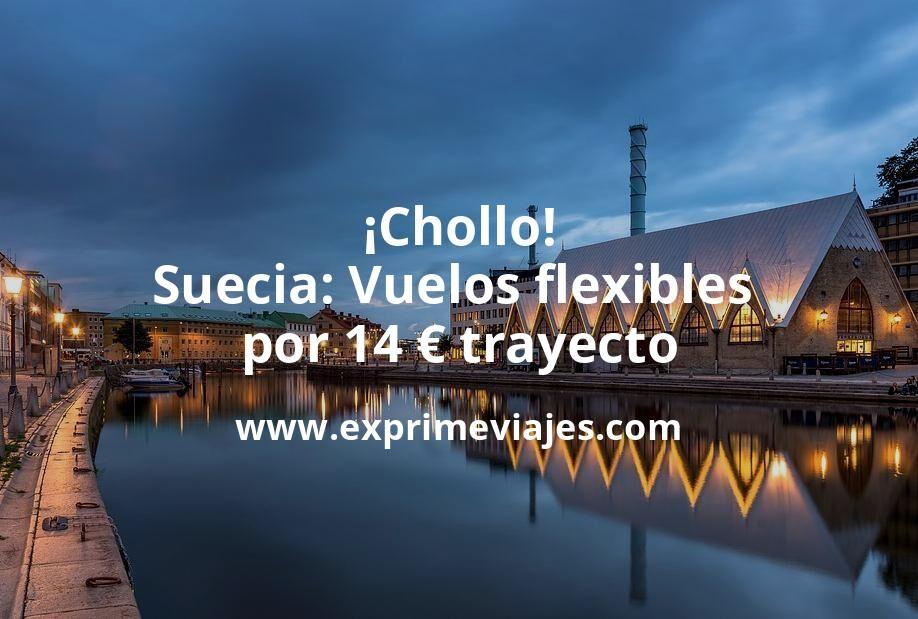 ¡Chollo! Suecia: Vuelos flexibles por 14euros trayecto