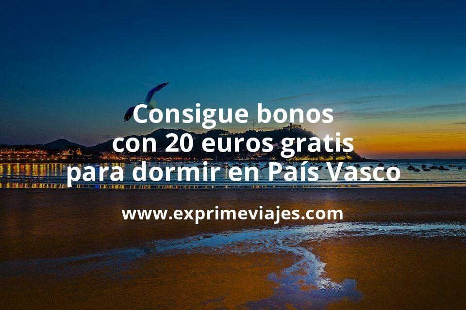 Consigue bonos con 20euros gratis para dormir en el País Vasco
