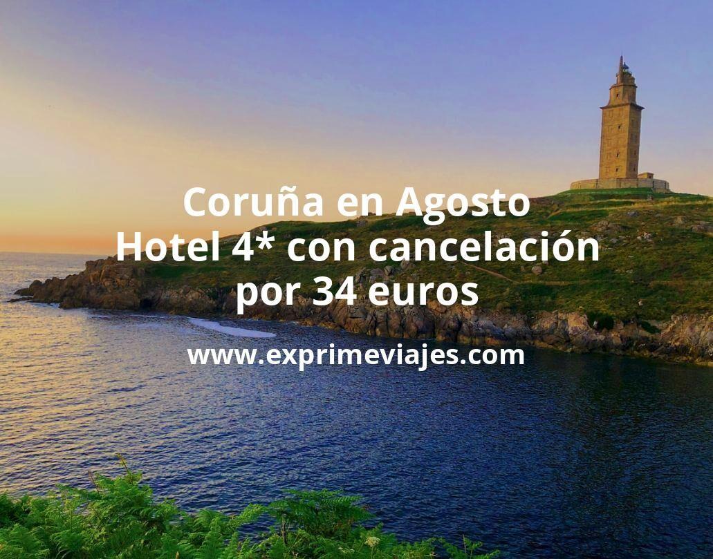Coruña en Agosto: Hotel 4* con cancelación por 34euros p.p/noche