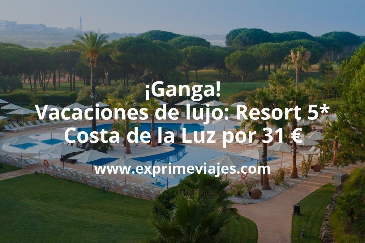 ¡Ganga! Vacaciones de lujo: Resort 5* Costa de la Luz por 31€ p.p/noche