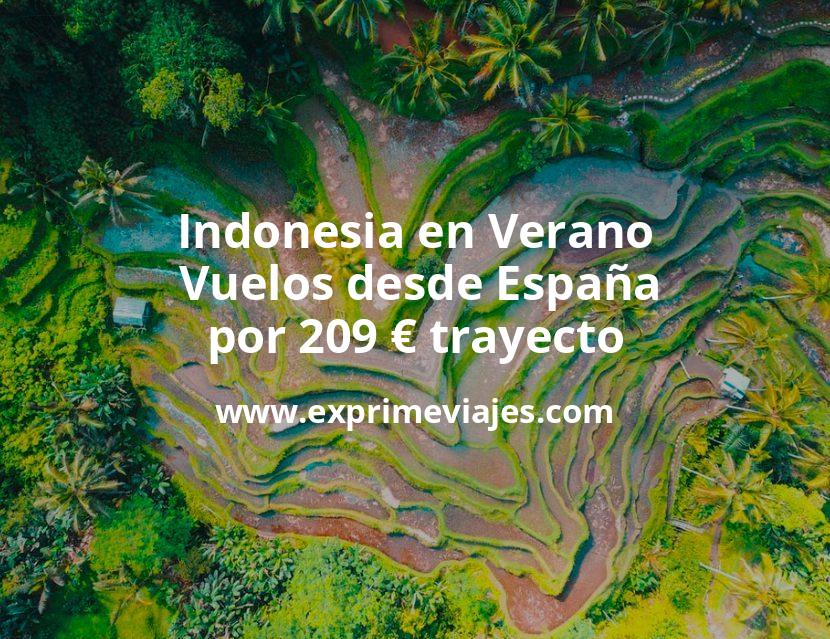 ¡Wow! Indonesia en Verano: Vuelos desde España por 209euros trayecto