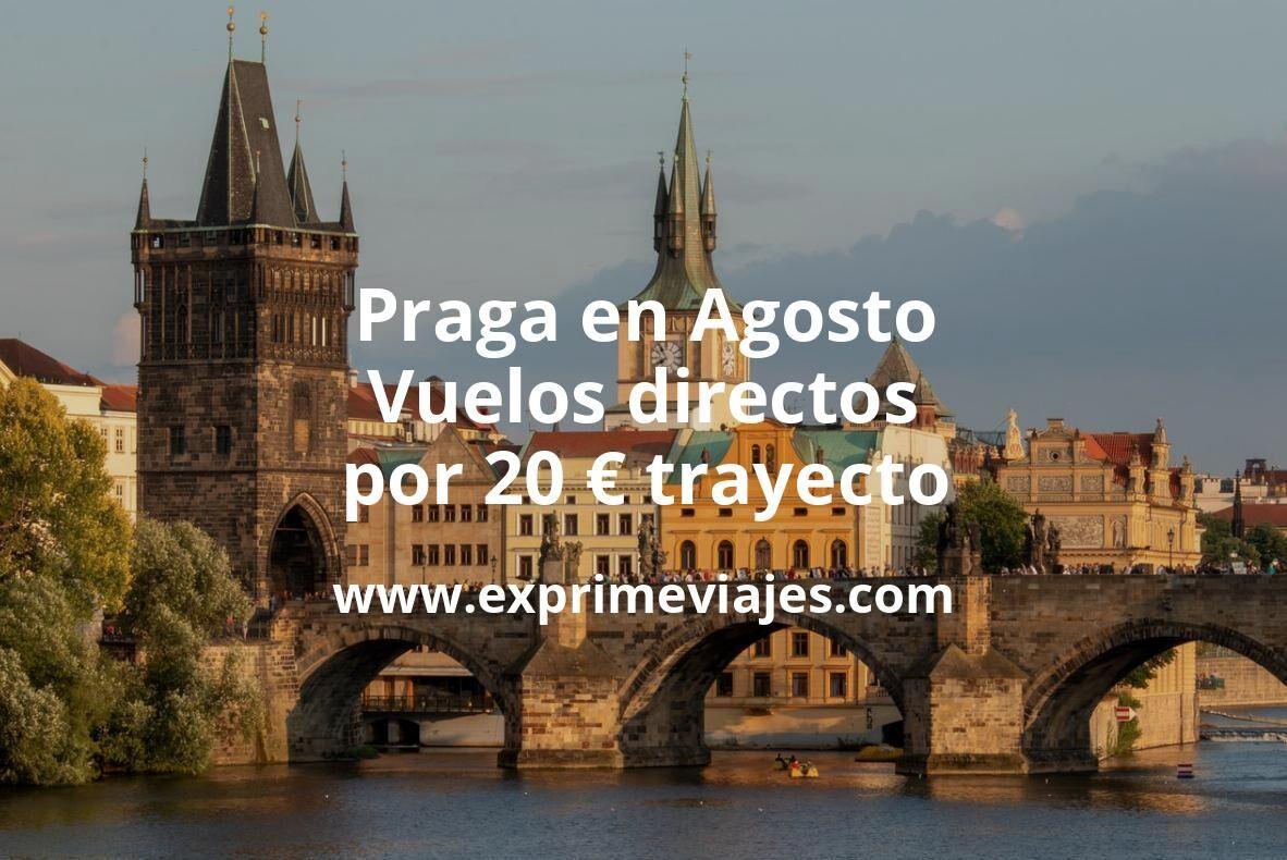 ¡Chollo! Praga en Agosto: Vuelos directos por 20euros trayecto