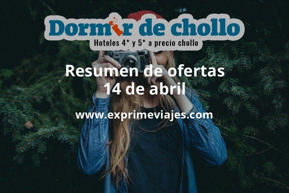 Resumen de ofertas de Dormir de Chollo – 14 de abril