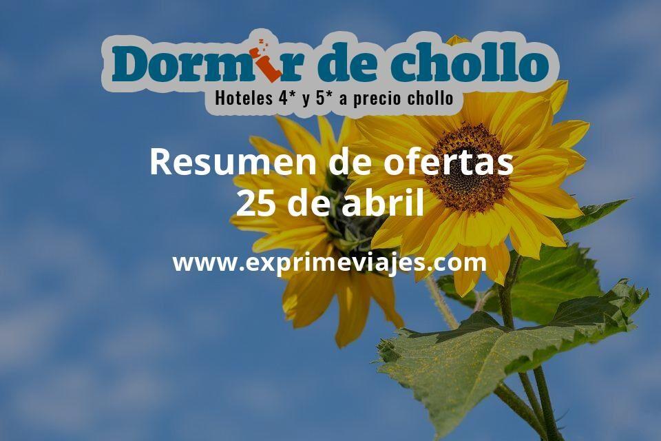 Resumen de ofertas de Dormir de Chollo – 25 de abril