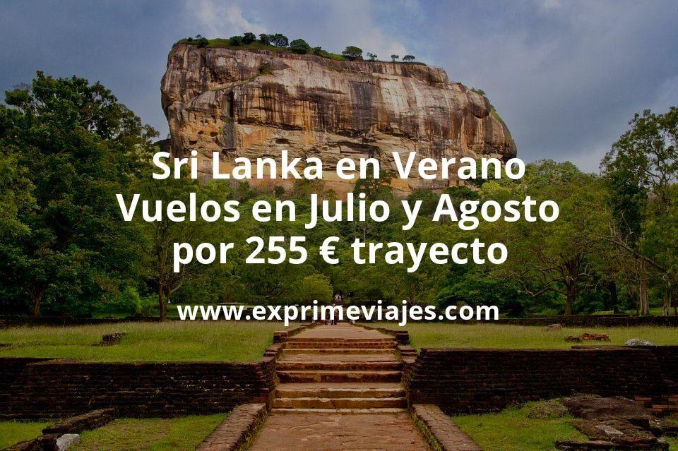 Sri Lanka en Verano: Vuelos en Julio y Agosto por 255euros trayecto