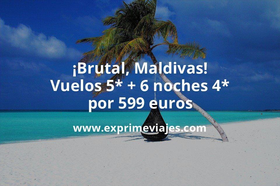 ¡Brutal! Maldivas en verano: vuelos flexibles 5* + 6 noches 4* por 599euros