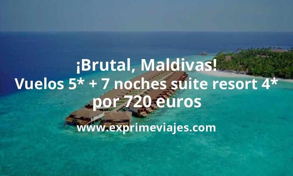 ¡Brutal! Maldivas: vuelos 5* + 7 noches villa en resort 4* con desayuno por 720euros