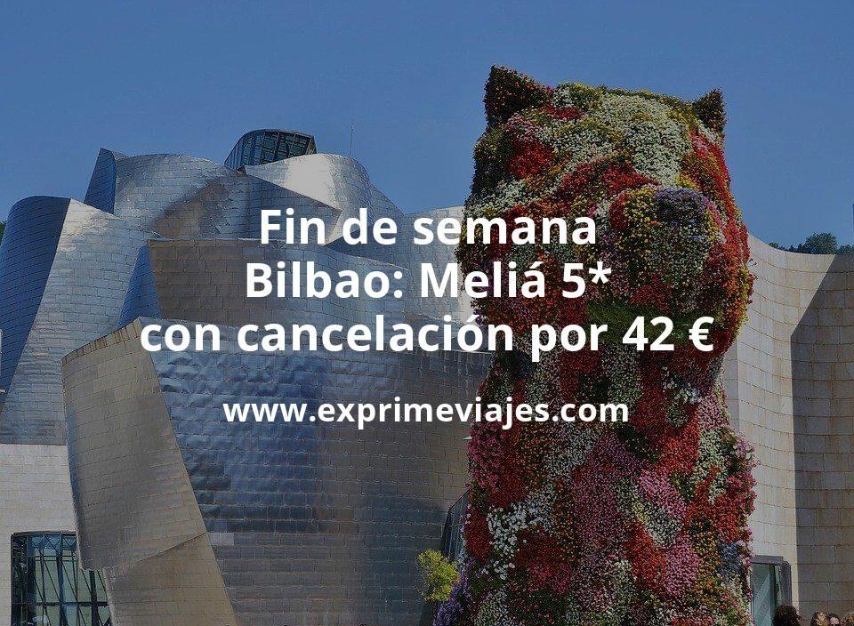 Fin de semana lujo Bilbao: Meliá 5* con cancelación por 42€ p.p/noche